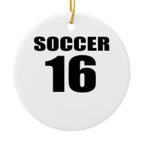 Soccer 16 Birthday Designs Ceramic Ornament