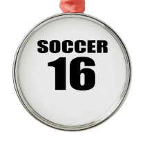 Soccer 16 Birthday Designs Metal Ornament