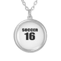 Soccer 16 Birthday Designs Silver Plated Necklace