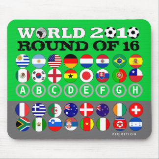 Soccer 16 Teams Flags Mousepad World Cup