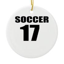 Soccer 17 Birthday Designs Ceramic Ornament