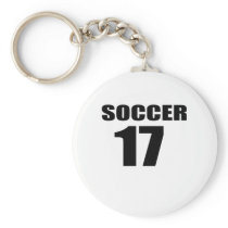 Soccer 17 Birthday Designs Keychain