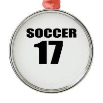 Soccer 17 Birthday Designs Metal Ornament
