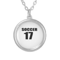 Soccer 17 Birthday Designs Silver Plated Necklace