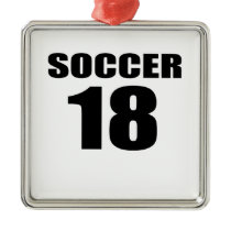 Soccer 18 Birthday Designs Metal Ornament