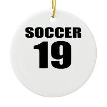 Soccer 19 Birthday Designs Ceramic Ornament