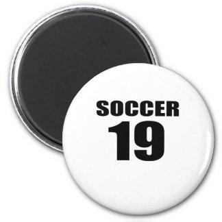 Soccer 19 Birthday Designs Magnet
