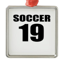 Soccer 19 Birthday Designs Metal Ornament