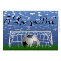 Soccer #1 Dad Awesome Outstanding Love My Dad Card