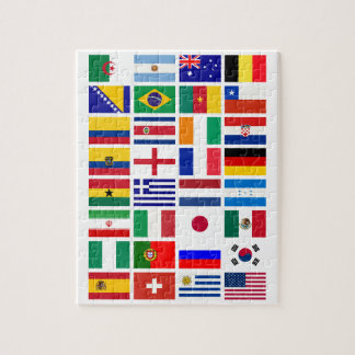 SOCCER 2014 flags pattern Jigsaw Puzzle