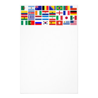 SOCCER 2014 flags pattern Stationery