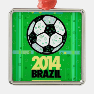 Soccer,... 2014. metal ornament