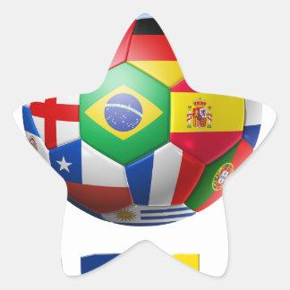 Soccer 2014 star sticker