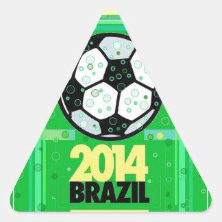 Soccer,... 2014. triangle sticker