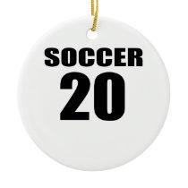 Soccer 20 Birthday Designs Ceramic Ornament