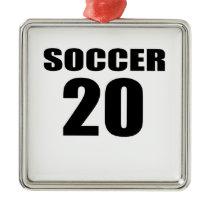 Soccer 20 Birthday Designs Metal Ornament
