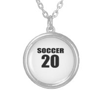 Soccer 20 Birthday Designs Silver Plated Necklace