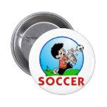 Soccer 2 Inch Round Button