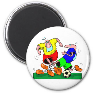 soccer 2 inch round magnet