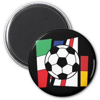Soccer 2 Inch Round Magnet