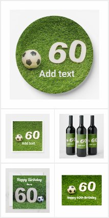 Soccer 60th Birthday Gift Ideas and Party Supplies