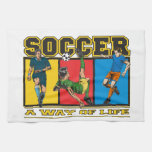 Soccer A Way of Life Hand Towel