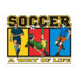 Soccer A Way of Life Postcard
