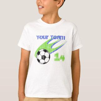 Soccer Action Customizable Team T-Shirt
