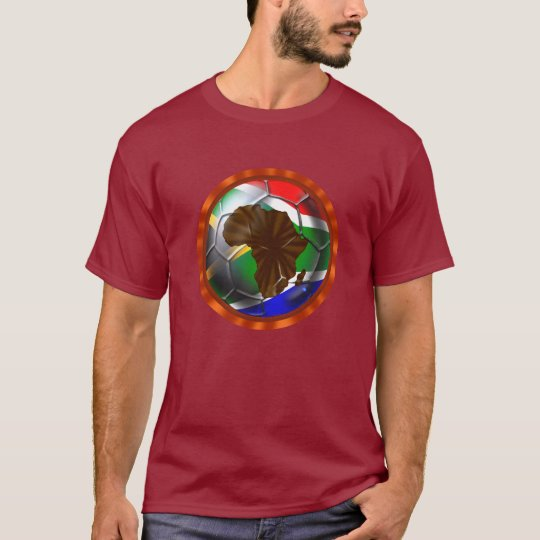 Soccer Africa South African and Africa Map Ball T-Shirt