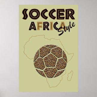 Soccer Africa Style Safari Poster Print for fans