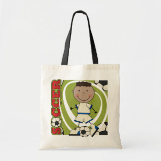 SOCCER - African American Boy TShirts and Gifts Budget Tote Bag