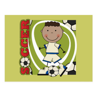 SOCCER - African American Boy TShirts and Gifts Postcard