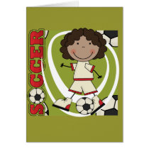 SOCCER - African American Girl T-shirts and Gifts Card
