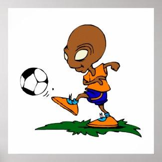 Soccer Alien print