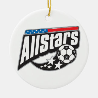 Soccer All Stars Ceramic Ornament