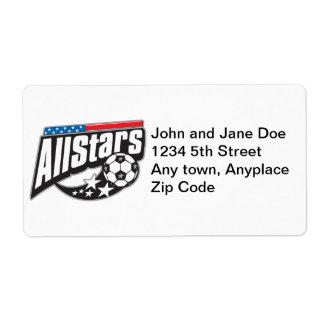 Soccer All Stars Label