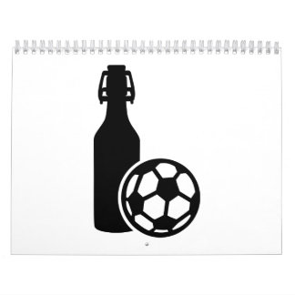 Soccer and beer wall calendar