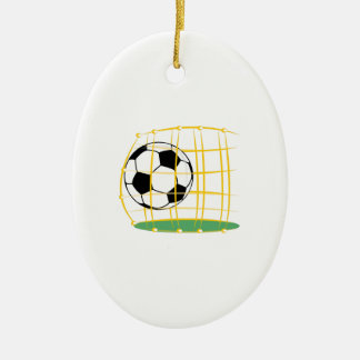 Soccer And Net Christmas Ornament