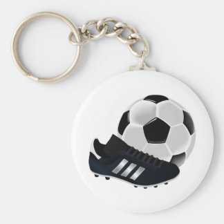 Soccer and shoes design keychain