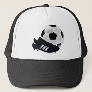 Soccer and shoes design trucker hat