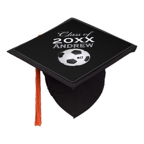 Soccer Any Custom Color Class of Year Graduation Cap Topper