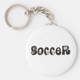 Soccer Arises Basic Round Button Keychain