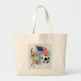 Soccer art USA futbol lovers Yanks supporters gift Jumbo Tote Bag