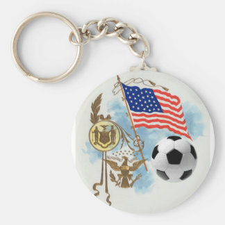 Soccer art USA futbol lovers Yanks supporters gift Key Chains