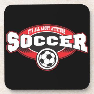 Soccer Attitude Beverage Coasters