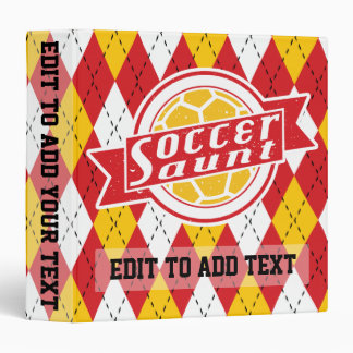 Soccer Aunt Customizable 3 Ring Binder