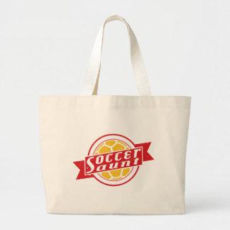 Soccer Aunt Large Tote Bag
