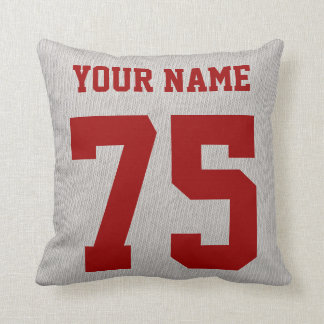 Soccer Aunt Pillow, Add Your Name and Number Print