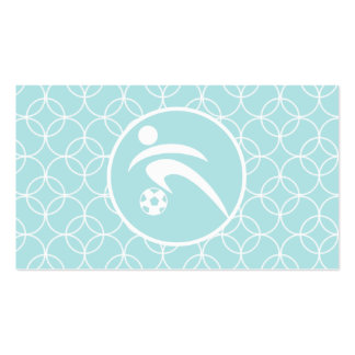 Soccer; Baby Blue Circles Double-Sided Standard Business Cards (Pack Of 100)