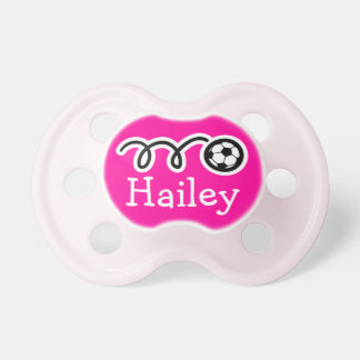 Soccer baby girl pacifier | Soother dummy binkie